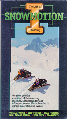 1991 SNOWMOTION 1- THE ART OF SLEDDING (PPI) Extreme Snowmobile DVD