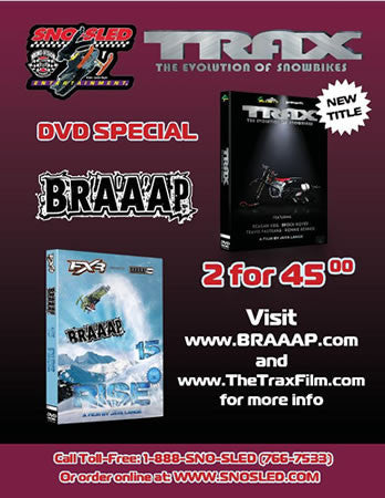 Braaap 15 - Trax Combo Pack Extreme Snowmobile DVD's