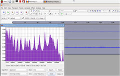 Audacity Spectrum Plot