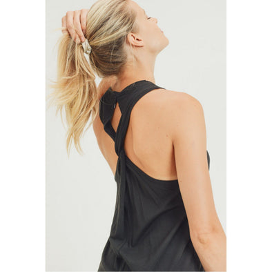 Twist Back Racerback Tank