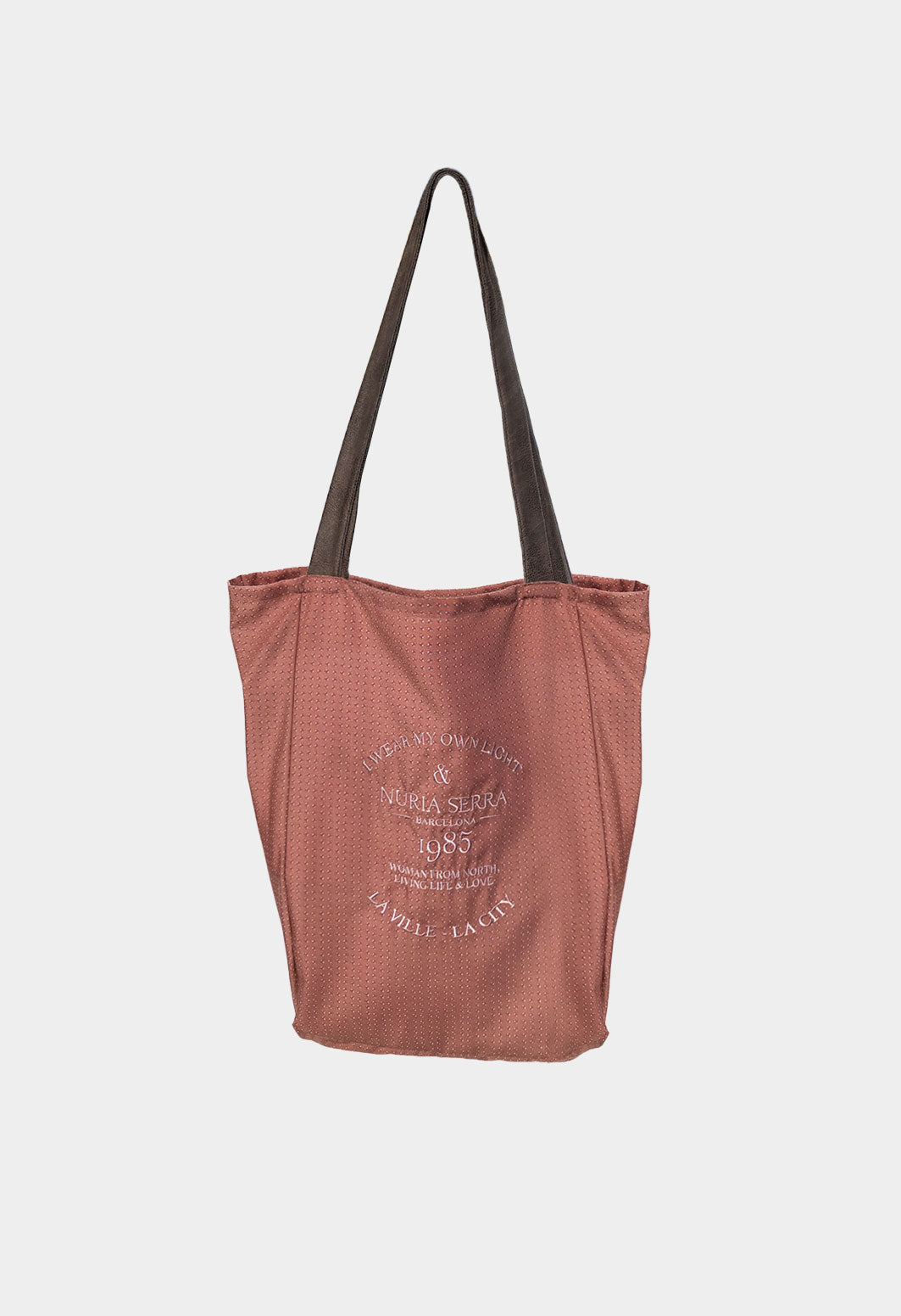 Bolso tote bag de tela rosa SHOPPER
