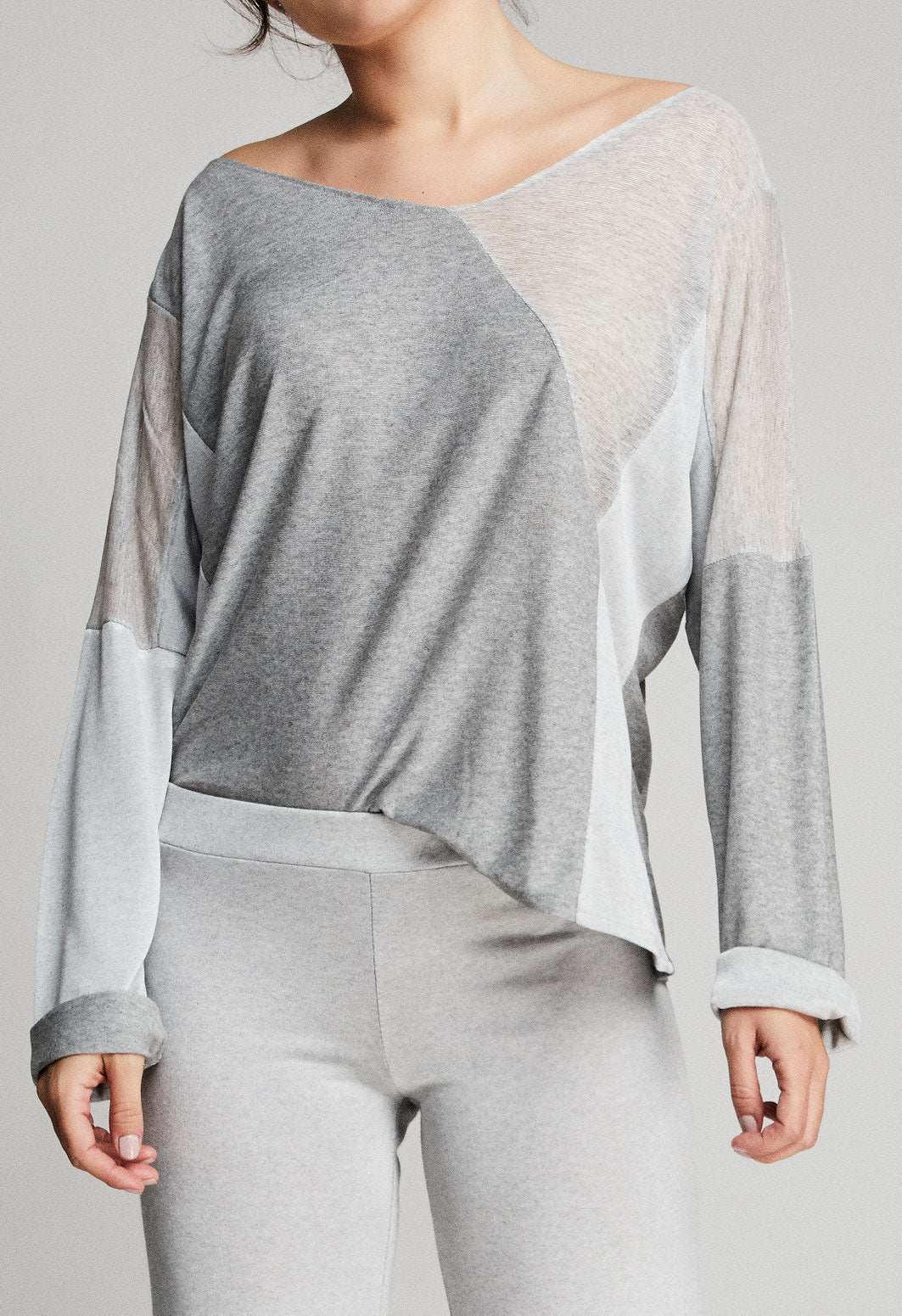 Jersey color gris perla para mujer