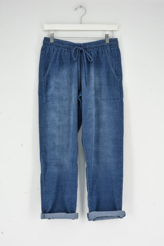 TAPERED CROP PANTS BLUE HILL