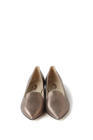 NUDE METALLIC NAPPA LEATHER FLAT