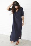 LONG NAVY BIB TUNIC
