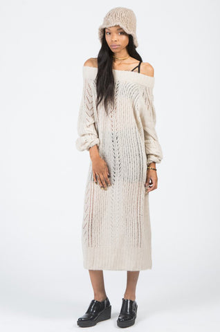 LUCIA OPEN CABLE DRESS