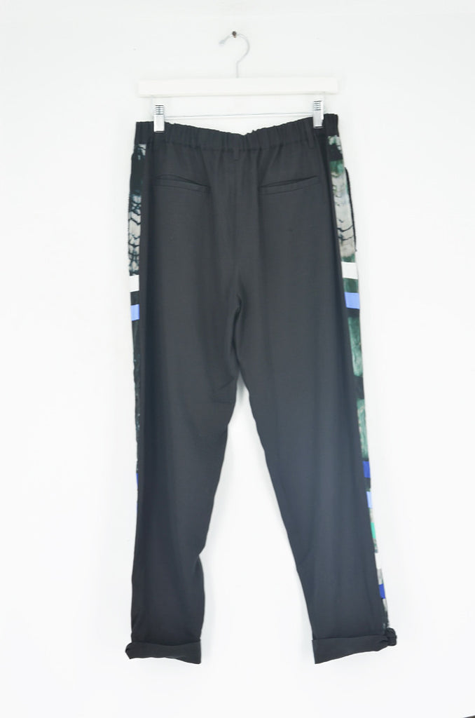 TAILORED PANTS WITH GRAPHIC TRIM