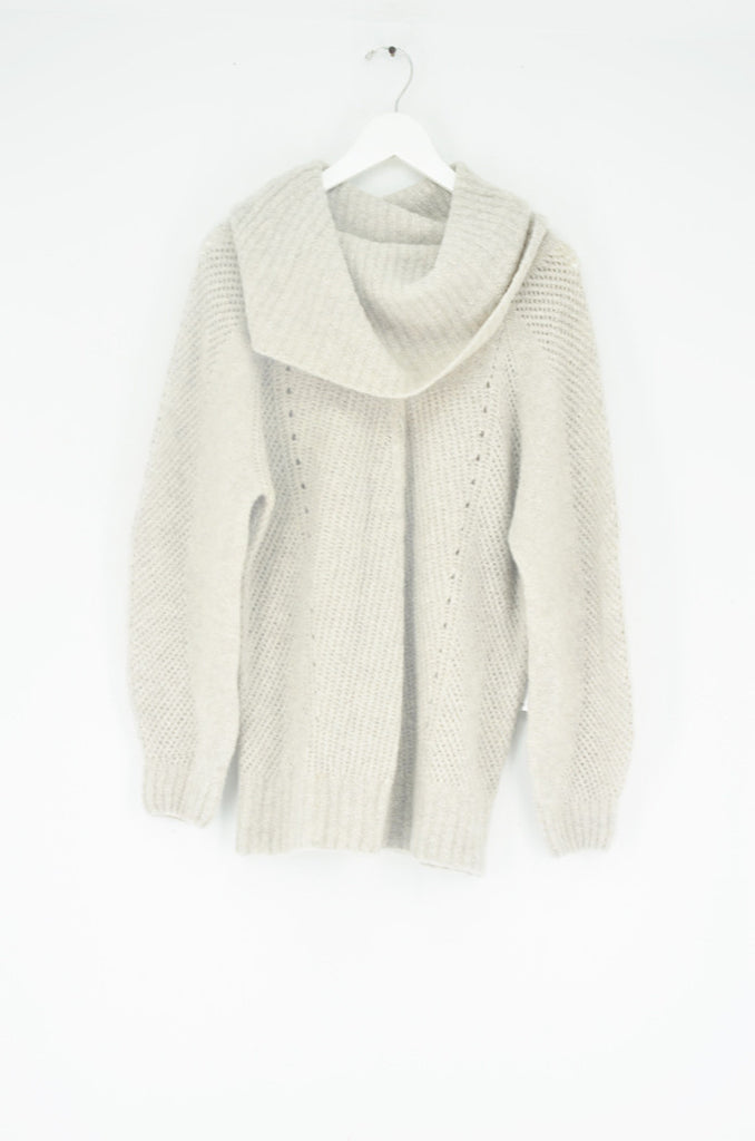 The Nadia Cashmere Boucle Cowl Tunic