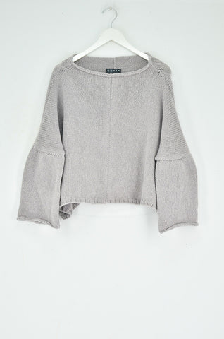 ROLLA CROPPED CASHMERE PULLOVER