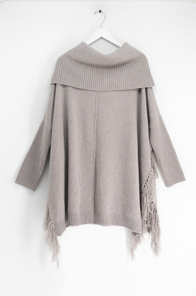 THE COWL FRINGE TUNIC