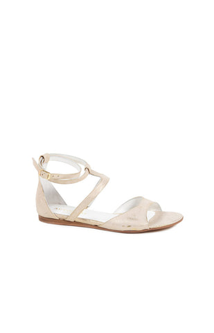 GOLD/WHITE ORIA WEDGE