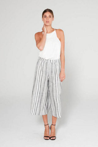 BLACK & WHITE CULOTTE PANT