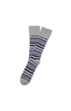 GREY/MARINE/WHITE FAIR ISLE SOCK