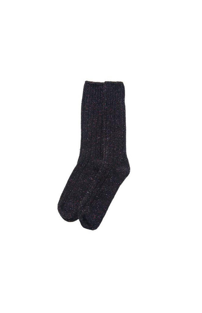 BLACK CHERRY WOOL/SILK SOCK