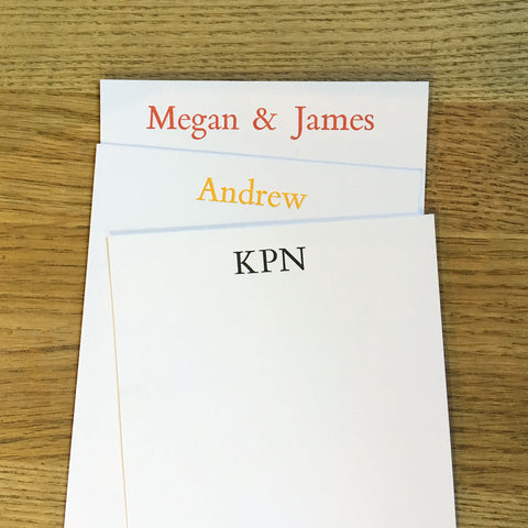 Custom Letterpress Notecards - Bembo