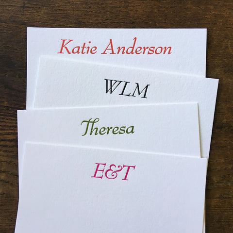 Custom Letterpress Notecards - Bernard Modern