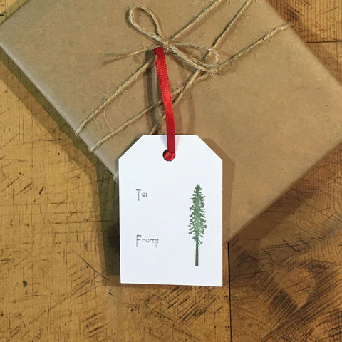 Conifer Letterpress Gift Tags - Set of 6