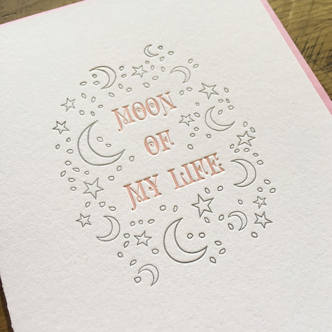 Moon of My Life Letterpress Card - Game of Thrones