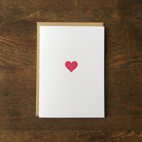 Heart Letterpress Card