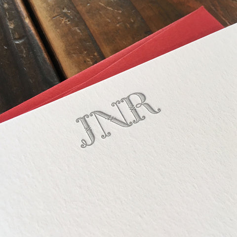 Custom Letterpress Notecards - Lexington