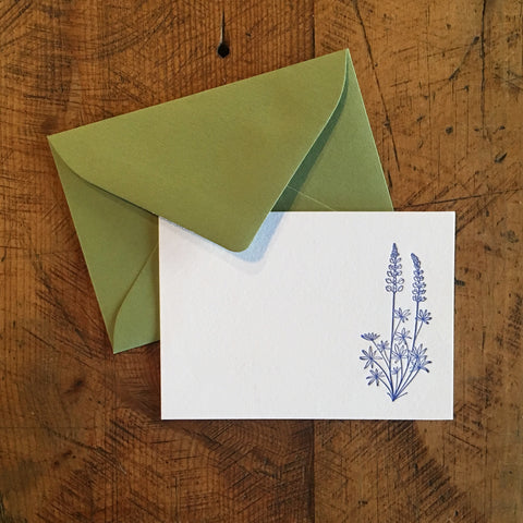 Lupine Letterpress Gift Enclosure Card