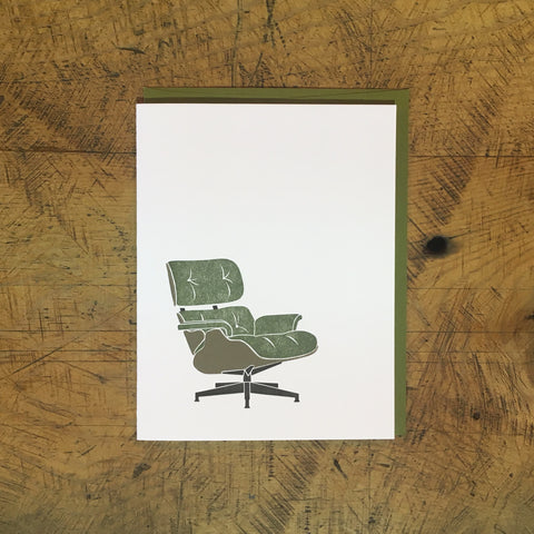 Eames Lounge Chair Letterpress Card