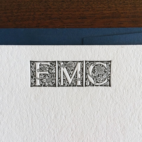 Custom Letterpress Notecards - Massey