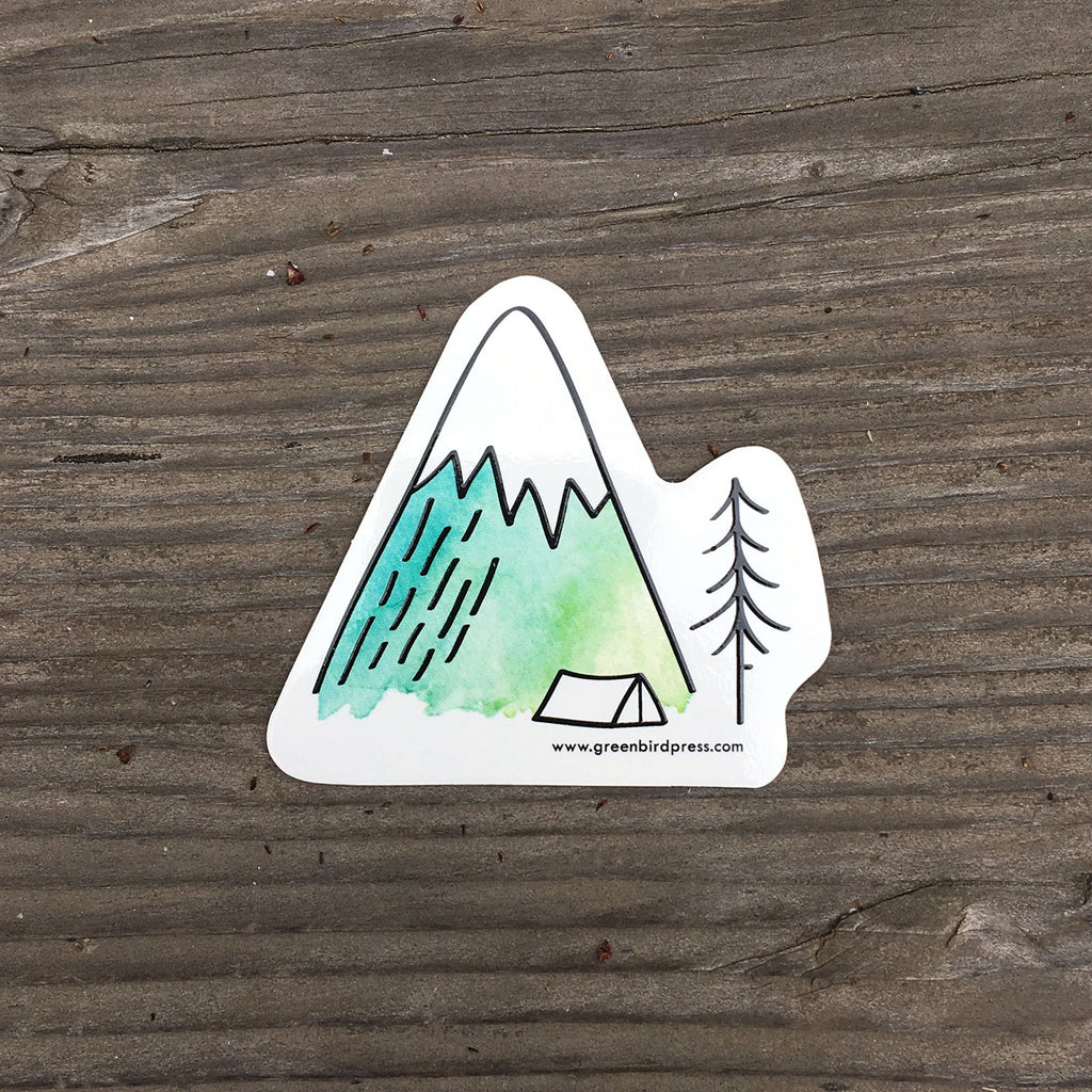 Camping in the Mountains Sticker
