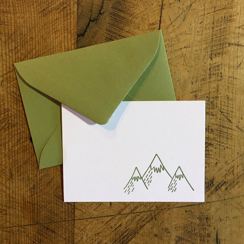 Mountains Letterpress Gift Enclosure Card
