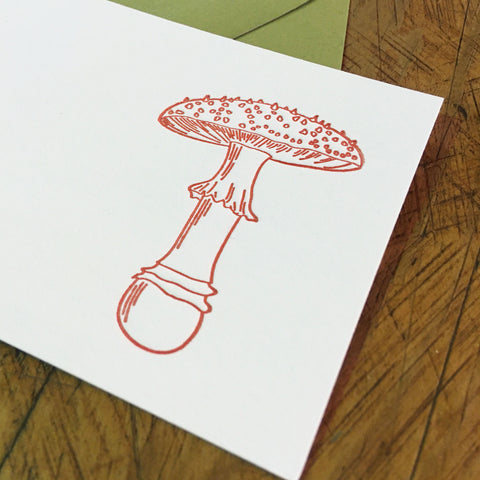 Mushroom Letterpress Gift Enclosure Card