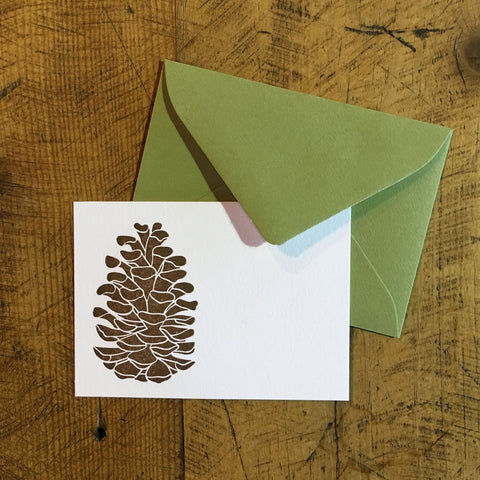 Pine Cone Letterpress Gift Enclosure Card