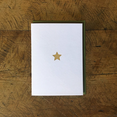 Gold Star Letterpress Holiday Card