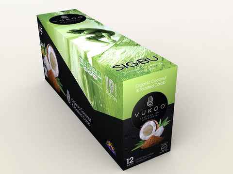 Vukoo Organic Coconut & Toasted Carob Bars