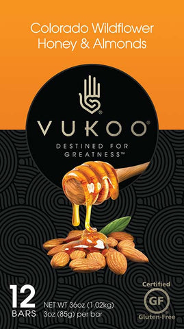 Protein Bars | Colorado Wildflower Honey & Almonds | NEGU® | Vukoo®