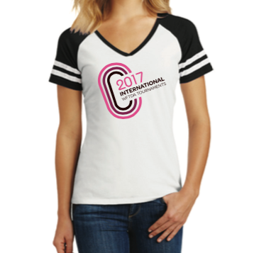 2017 Tournament Women's V-Neck T-Shirt