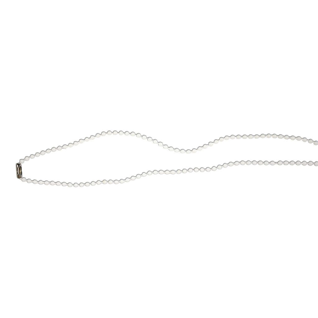 White Plastic Bead Chain Necklace - 75cm - 100 Pack
