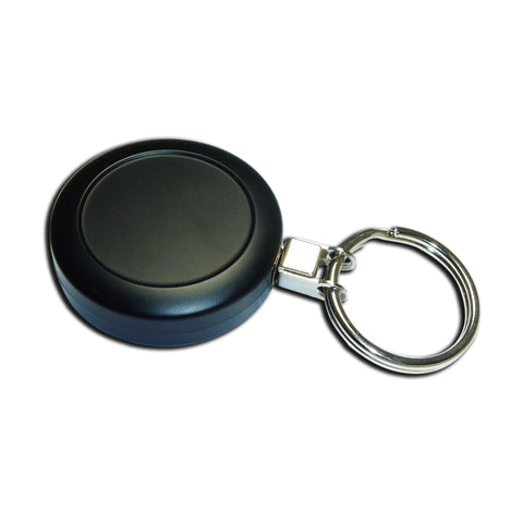 Metal Yo-Yo Badge Reel - Black Ring