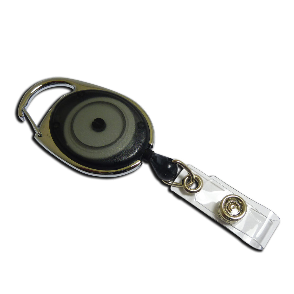 Carabiner-style Yo-Yo Premier Badge Reel - Black