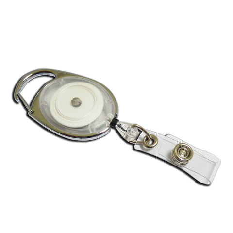 Carabiner-style Yo-Yo Premier Badge Reel - Clear