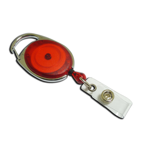 Carabiner-style Yo-Yo Premier Badge Reel - Red