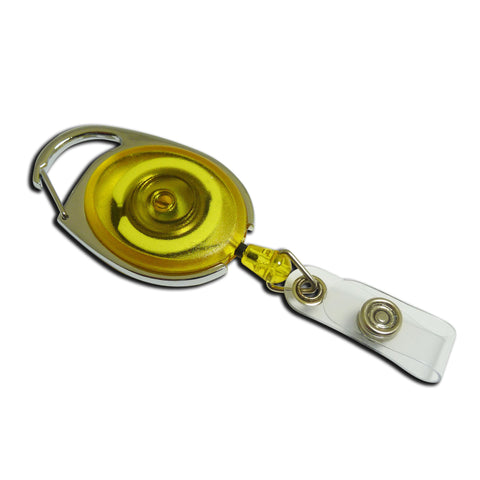 Carabiner-style Yo-Yo Premier Badge Reel - Yellow