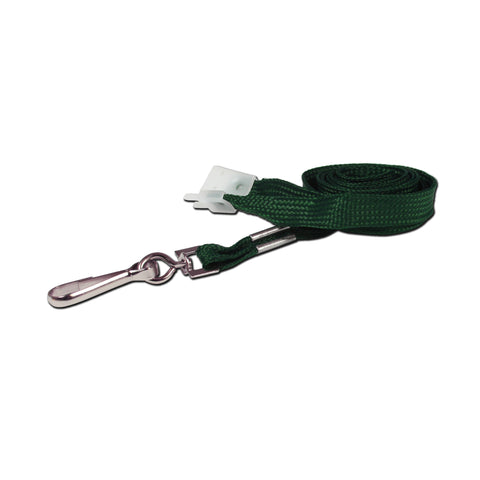 10mm breakaway lanyard, Green with Metal Clip