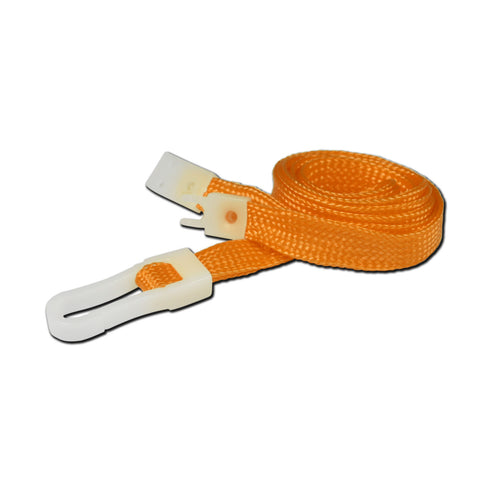 10mm breakaway lanyard, Orange with Plastic Slide Hook