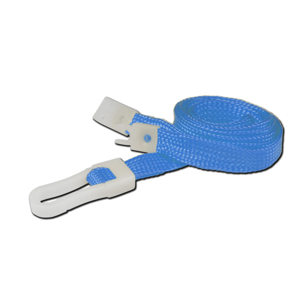 10mm breakaway lanyard, Sky Blue with Plastic Slide Hook