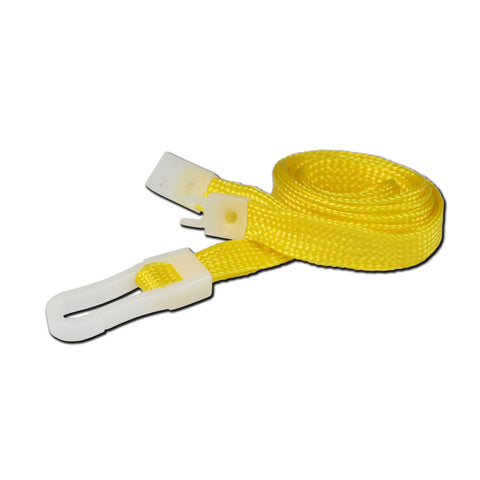 10mm breakaway lanyard, Yellow with Plastic Slide Hook