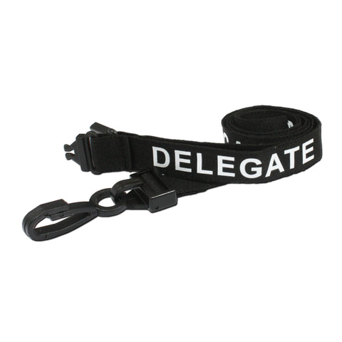 Pre-Printed Breakaway Lanyard, 80cm x 15mm, 100 & 5 Pack