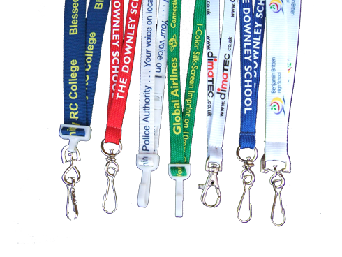 High quality custom printed lanyards with many options.