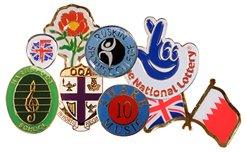 Collection of custom designed highest quality lapel and pin badges.