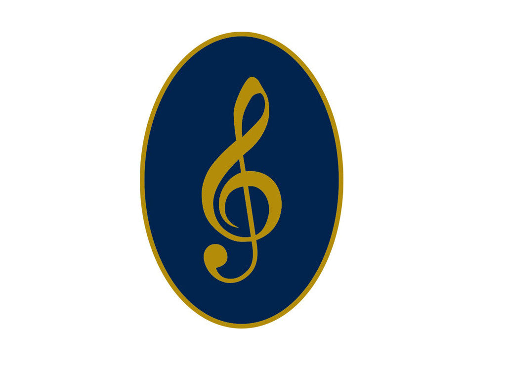 Treble Cleft Standard Lapel Pin Badge