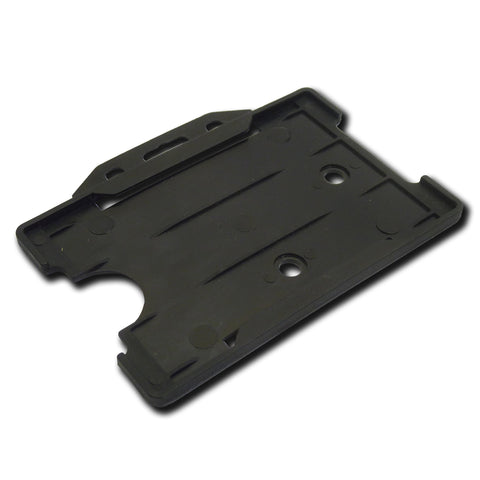 Black open faced rigid card holder - landscape